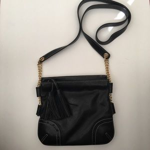 Talbots Double Pocket Handbag Gold Chain Detail